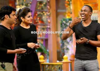 Dwayne Bravo eating pani puri on sets of 'The Kapil Sharma Show'