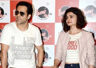 Emraan Hashmi and Prachi Desai clicked during 'Azahar' promotions