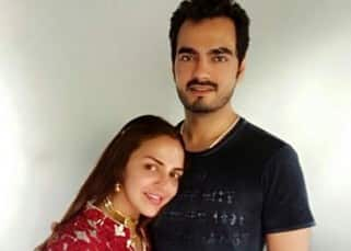 Esha Deol poses with husband on her birthday