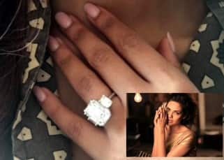 Esha Gupta flaunts  this ring on her finger