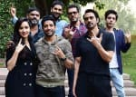 Farhan Akhtar, Shraddha Kapoor and team Rock On 2 have a gala time during Delhi promotions - view pics!