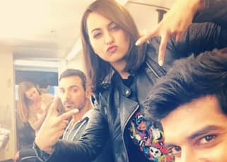 Force 2's Sonakshi Sinha and John Abraham hang out in their vanity van!