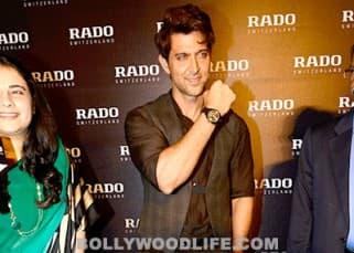 Hrithik Roshan posing for cameras at Rado watch event
