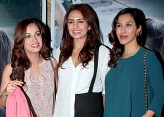 Huma Qureshi with Dia Mirza and Sohpie Choudhary
