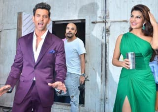 Jacqueline Fernandez and Hrithik Roshan spotted at Mehboob studio
