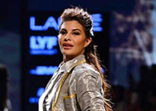 Jacqueline Fernandez snapped during Rajesh Pratap Singh's show at Lakme Fashion Week 2016