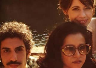Jim Sarbh clicked with Kalki Koechlin and a friend