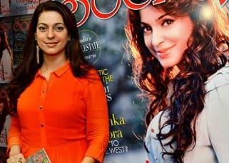 Juhi Chawla on the cover of Society magazine