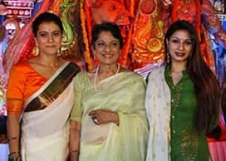 Kajol celebrates Durga Puja with family in Mumbai