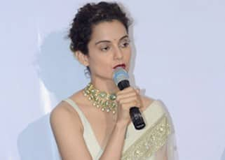 Kangana Ranaut interacting with media during Swachh Bharat Abhiyaan event