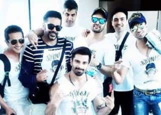 Karan Singh Grover during his bachelor party in Goa