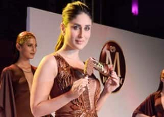 Kareena Kapoor clicked with models at Magnum ice cream event