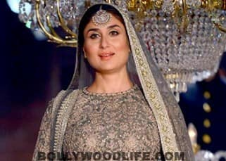 Kareena Kapoor Khan flaunting her baby bump during Sabyasachi Mukherjee show