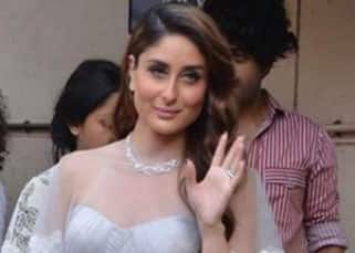 Kareena Kapoor Khan in grey cape outfit for Elle magazine shoot