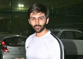 Kartika Aryan clicked during Football practice match
