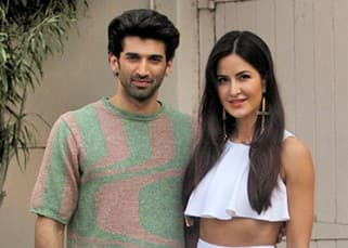 Katrina and Aditya at Mehboob studio for 'Fitoor' promotion