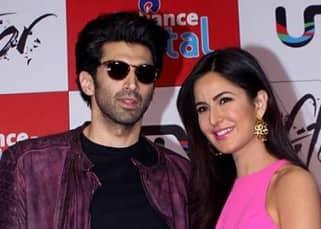Katrina and Aditya during 'Fitoor' movie press meet