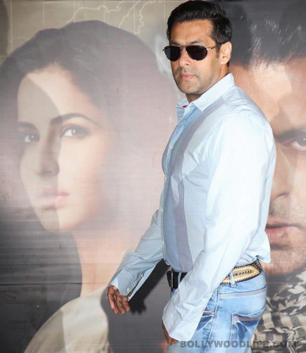 Katrina Kaif and Salman Khan at the launch of Mashallah song from 'Ek Tha Tiger'