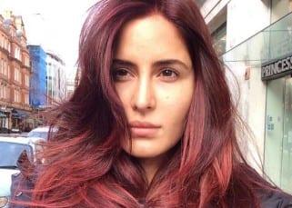 Katrina Kaif clicks selfie in red hair look  for 'Fitoor'