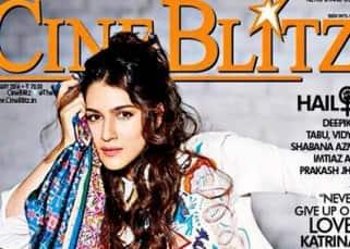 Kriti Sanon on cover of Cine Blitz magazine