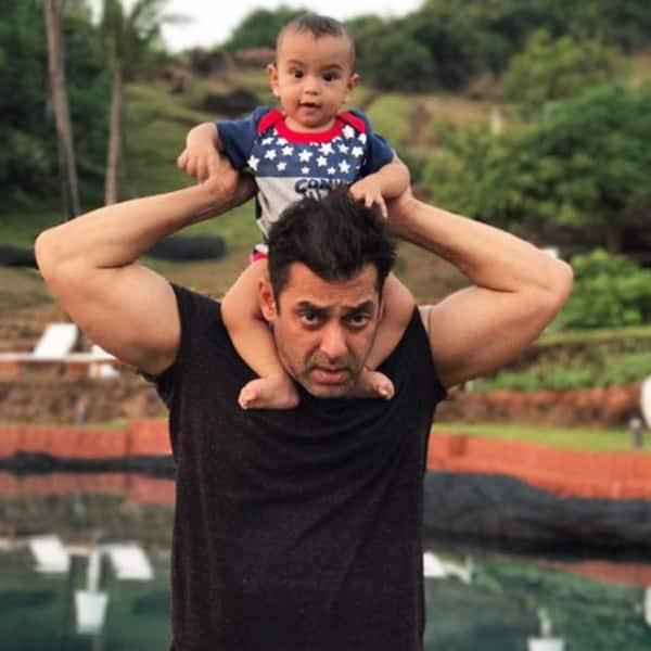 Little Ahil spends some 'Mamu time' on Salman Khan's shoulder
