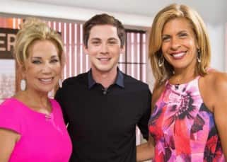 Logan Lerman and Kathie Lee on 'Today Show'