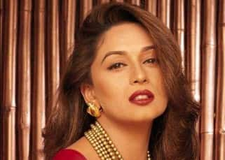 Madhuri Dixit in a hot pose for a photoshoot