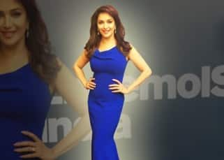 Madhuri Dixit Nene snapped in navy blue gown