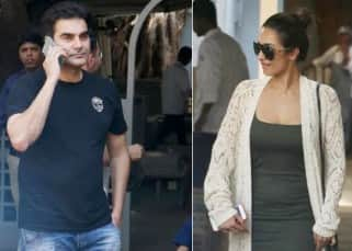 Malaika Arora Khan and Arbaaz Khan spotted post lunch outside a restaurant