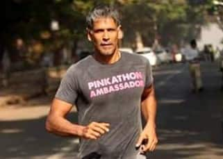 Milind Soman snapped as he started running barefoot from Ahmedabad to Mumbai