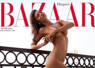 Miranda Kerr poses nude for Harper's Bazaar magazine
