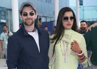 Neil Nitin Mukesh and Rukmini Sahay return to the city after their grand Udaipur wedding