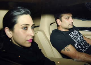 No longer shy! Karisma Kapoor makes a confident entry with beau Sandeep Toshniwal at Prithvi Theatre