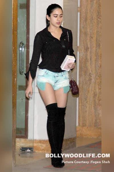 Kareena kapoor khan hosts a dinner bash for sister karisma and bffs oh so hot sara ali khan rocks her thigh high boots voltagebd Image collections