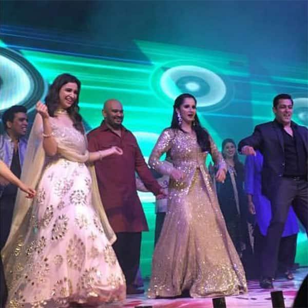 Parineeti Chopra and Salman Khan shaking a leg at Sania Mirza's sister's wedding