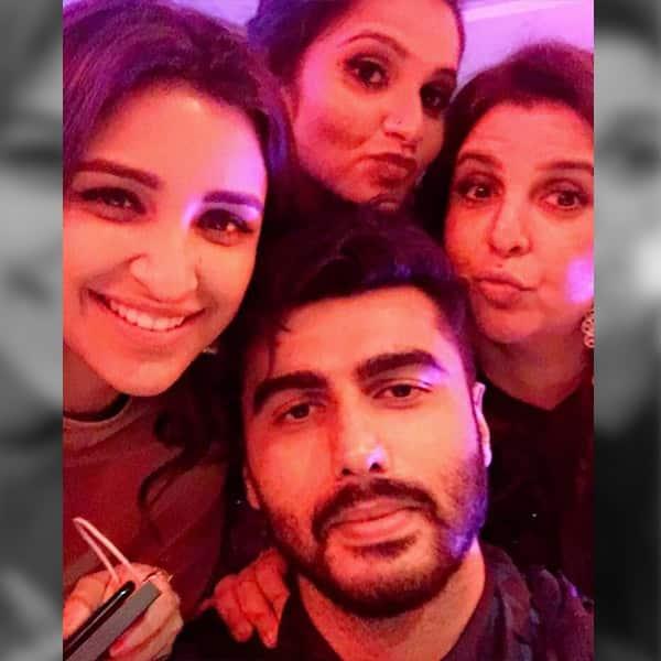 Parineeti Chopra, Arjun Kapoor and Farah Khan attend Sania Mirza's sister's wedding