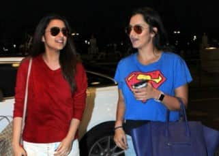Parineeti Chopra with Sania Mirza returning after their beach vacation in Goa