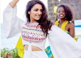 Parineeti Chopra's dancing still during L'officiel magazine shoot