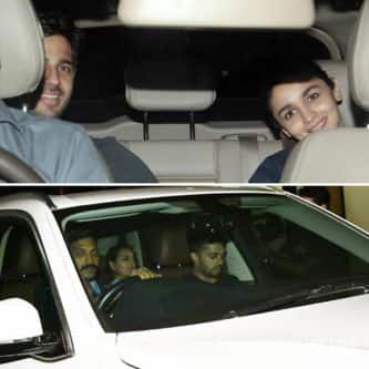 Phillauri screening: Alia Bhatt and Sonakshi Sinha go on a movie date with Sidharth Malhotra and Bunty Sajdeh