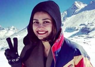 Prachi Desai goes solo for a shoot in Manali