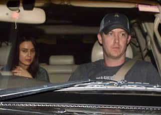 Preity Zinta clicked with Gene Goodenough at airport