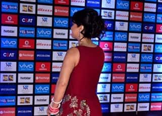 Preity Zinta preferred tied hair with this gown at Vivo IPL opening ceremony