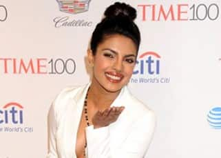 Priyanka Chopra passes a flying kiss to cameras