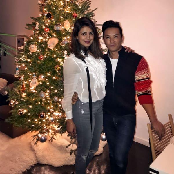 Priyanka Chopra with Prabal Gurung celebrating pre - Christmas