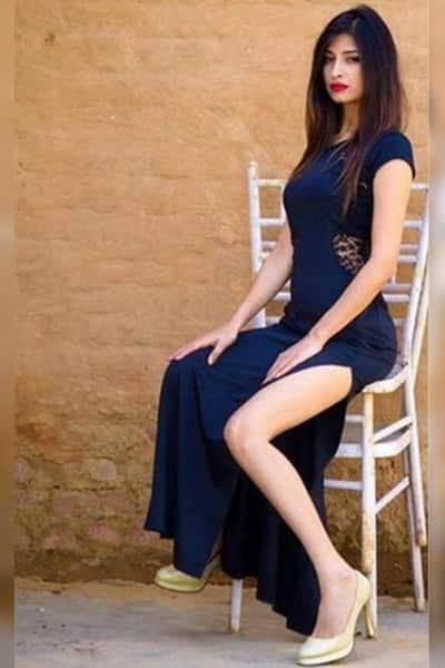 Priyanka Jagga in this side slit blue gown  is grabbing all eyeballs