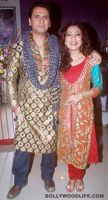 Ram and Sakshi on 'Bade Achche Lagte Hai...' sets