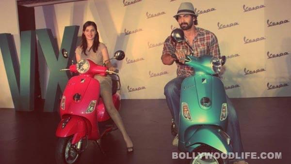Rana Daggubati autographs Vespa VX bike in Hyderabad!