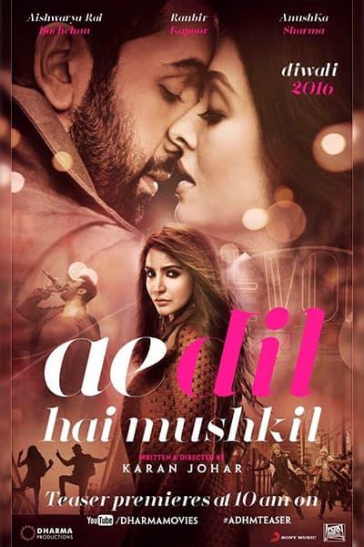 Ranbir Kapoor and Aishwarya Rai Bachchan's chemistry in poster of 'Ae Dil Hai Mushkil'