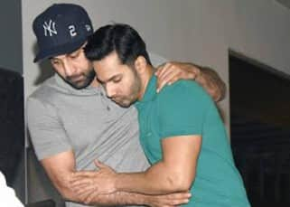 Ranbir Kapoor and Varun Dhawan spotted having a dinner together