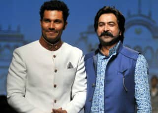 Randeep Hooda with designer Rohit Kamra at AIFW 2016